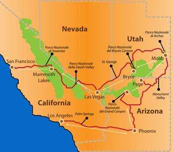 Parchi Usa Cartina.Stati Uniti E Parchi La Fabbrica Dei Sogni Nuove Esperienze